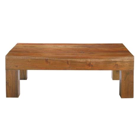 table en acacia massif table basse en acacia massif l 90 cm ceylan maisons du monde