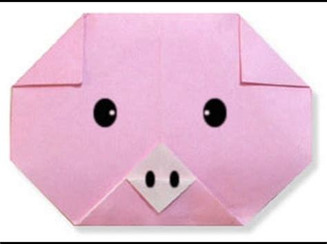 How To Make A Paper Pig - how to make origami pig
