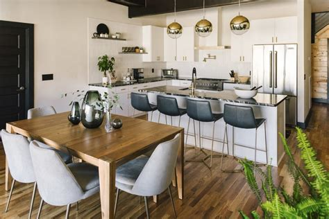 chic  modern kitchendining room zoom background   zoom backgrounds popsugar