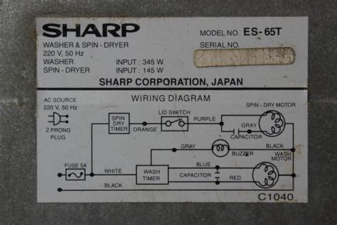 Capasitor Mesin Cuci Sharp kapasitor mesin cuci sharp es 65 t elektrologi