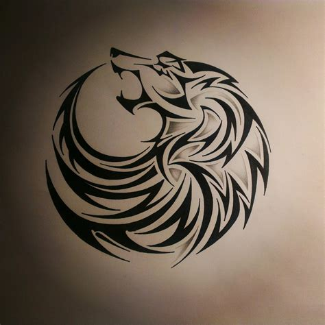 tribal tattoo stencil black tribal wolf design stencil