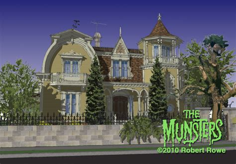 the munsters house the gallery for gt the munsters house in color