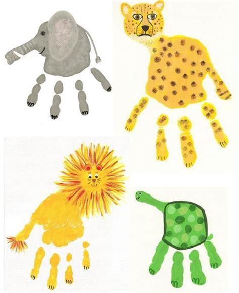 printable animal crafts make fun animals with kids handprints fun things to do