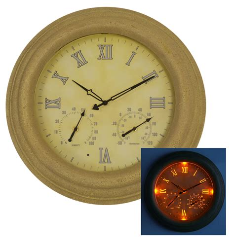 Lighted Outdoor Clock 18in Outdoor Clock With Led S 169 99