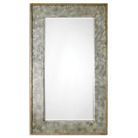 Distressed Farmhouse Floor Mirror For Sale - leron distressed bronze rectangular mirror uvu07691