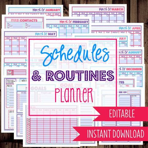 printable daily flip calendar download daily planner monthly planner weekly to do list