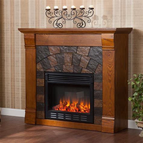 electric fireplace stand alone stand alone fireplace electric with lacquered teak wood