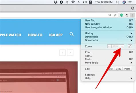 chrome zoom mac change font page size and zoom in zoom out in chrome on