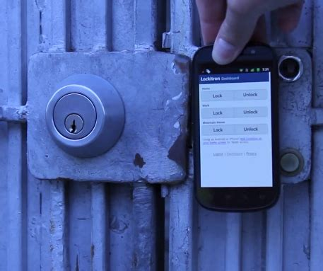 lockitron lets you use your smartphone to unlock your door