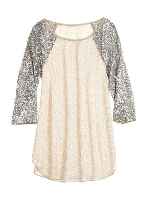 shirt glitter sleeves baseball blouse sequin
