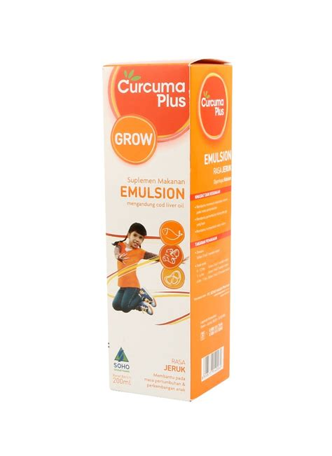Curcuma Grow Emulsion Jeruk 200ml curcuma plus suplemen makanan emulsion jeruk btl 200ml