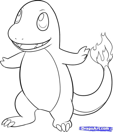 how to draw charmander step by step pokemon characters
