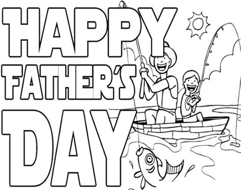 fathers day coloring pages for toddlers happy fishing on father s day coloring page kids
