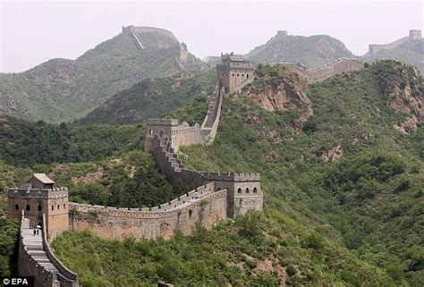Beijing China Original great wall of china appears and tourists are convinced it s real daily mail