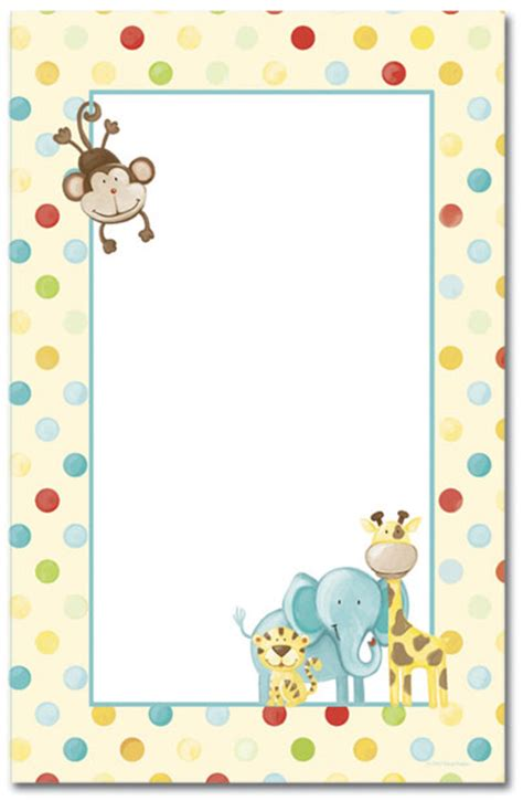 free printable zoo animal stationery kid s room baby zoo animals letterhead
