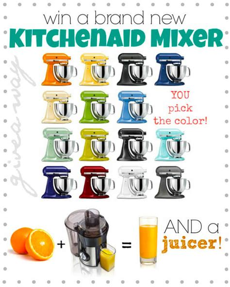 Kitchenaid Mixer Giveaway - kitchenaid mixer and juicer giveaway gimme some oven