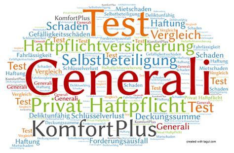 Generali Versicherungen by Test Generali Haftpflichtversicherung Komfortplus