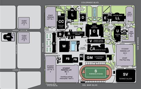 city college map cus maps about pcc pasadena city college