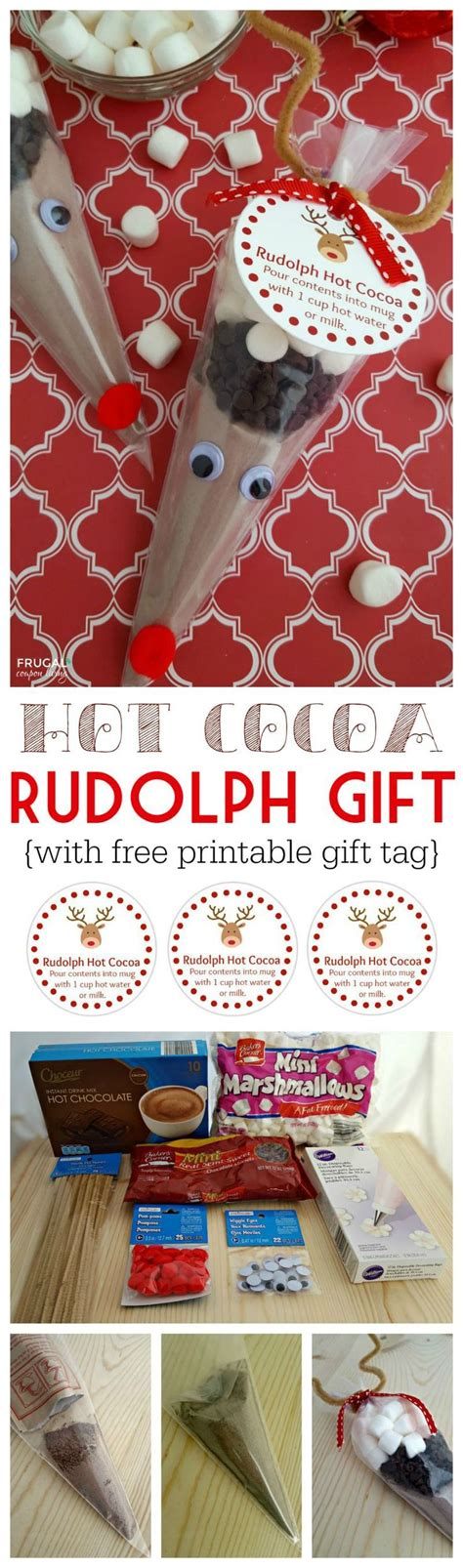printable rudolph gift tags rudolph hot cocoa free printable gift tag opskrift