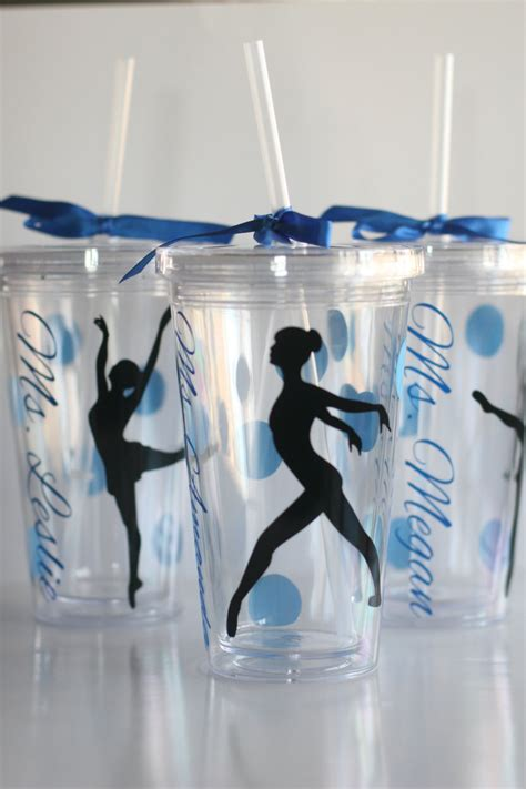 personalized tumblers dance team tumblers by katiepiedesigns