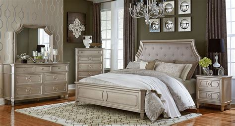 adeline silver upholstered platform bedroom set cm7282q silver bedroom sets windsor panel bedroom set silver