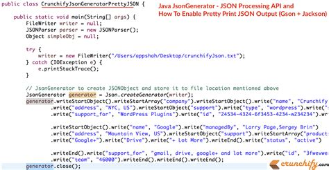 tutorial java json java jsongenerator json processing api and how to enable