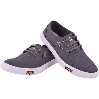 buy footfit grey lace up casual shoes shopclues
