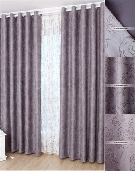 pretty blackout curtains beautiful and elegant floral purple blackout curtains of faux suede