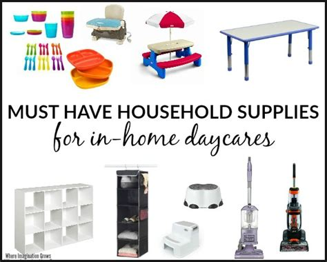 must have household items how to start a home daycare where imagination grows