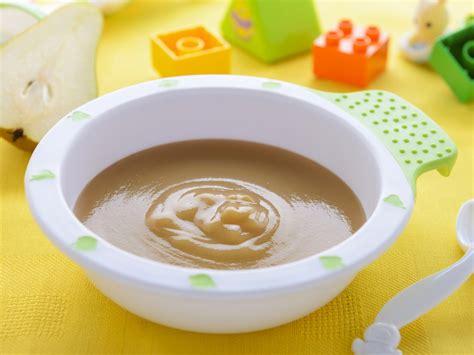 alimentazione neonato 8 mesi ricette pappa alla pera e patata bimbi sani e belli