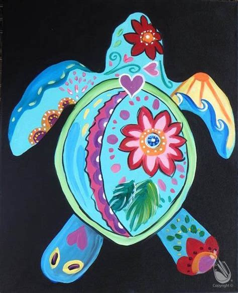 paint with a twist fort wayne peace and turtles saturday august 15 2015