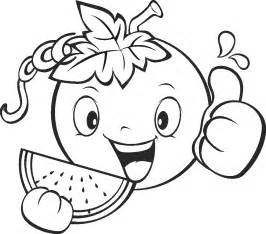 Galerry fruit and vegetable coloring pages