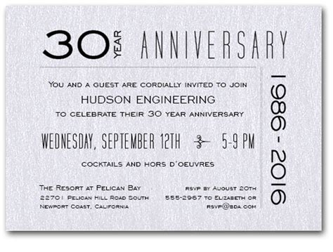 company anniversary invitation card template modern shimmery white business anniversary invitations