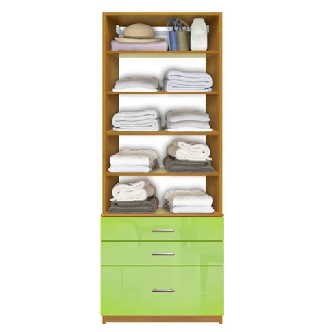 Closet Drawers System by Isa Closet System With 5 Drawers Adjustable Shelves