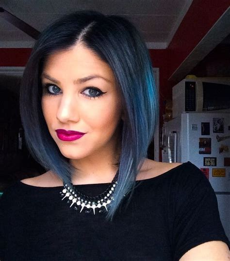 Blue And Hairstyles by 18 Beautiful Blue Ombre Colors And Styles Popular Haircuts