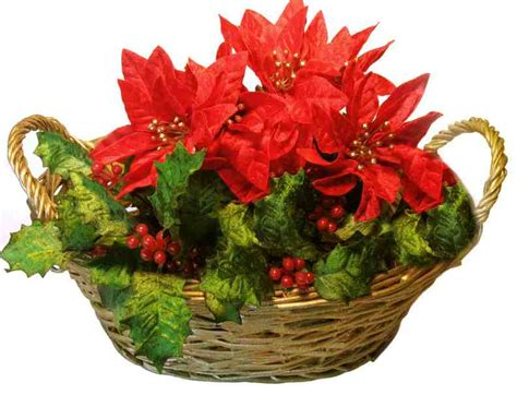 christmas gift ideas christmas flower basket ideas