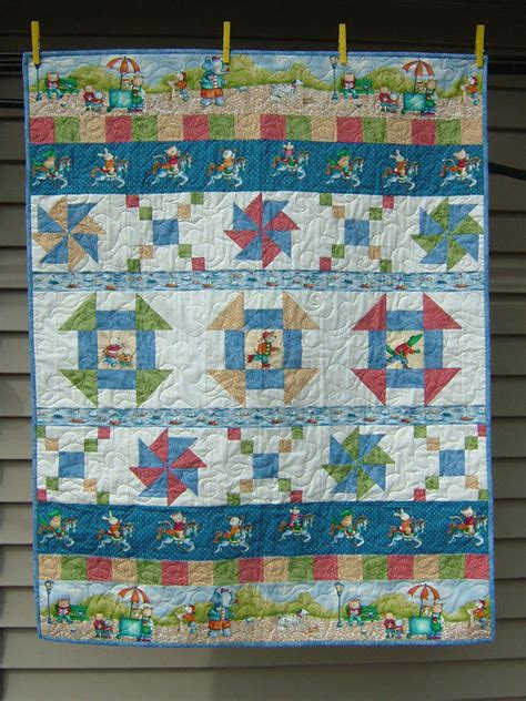 Dimensions Of A Crib Quilt by Crib Size Quilt An Original Pattern In From Djwquilts On Etsy