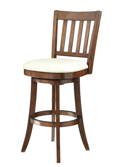Mission Swivel Bar Stools by Mission Transitional Bonded Leather Wood Swivel Bar