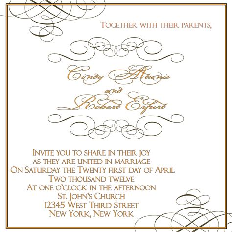 marriage invitation card templates free applying the wedding planning templates best wedding
