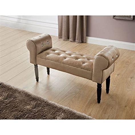 bench chaise stylish diamante buttons damask chaise lounge bench