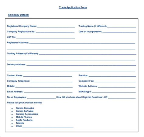Credit Application Reference Form Sle Trade Reference 5 Documents In Pdf