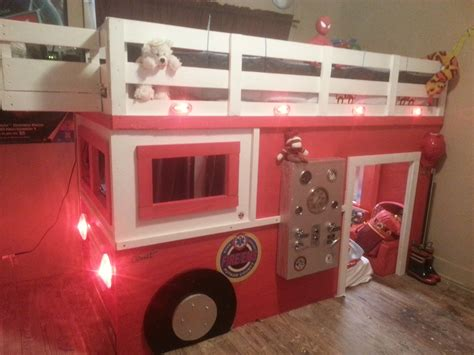 firefighter bed my son wants to be a firefighter so i built him a firetruck bed album on imgur