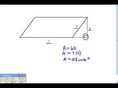 How Do You Find On Area And Height Of A Parallelogram