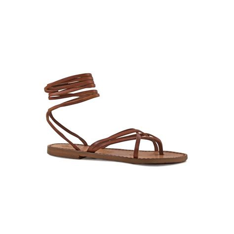 Sandals Handmade - s vintage cuir strappy leather sandals handmade in