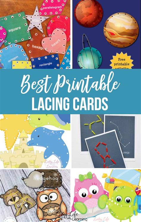 Free Lacing Cards Printables