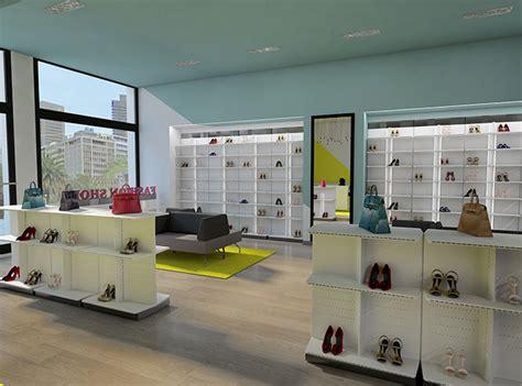 arredo negozio scarpe architetto allestimento negozio calzature