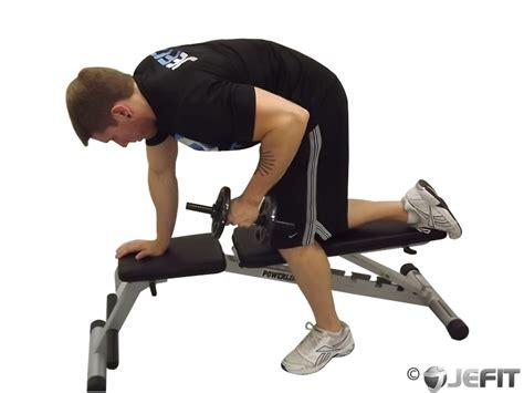 tricep kickbacks on bench ez bar reverse grip french press exercise database