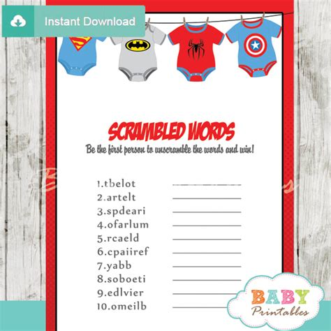 Unscramble Baby Shower Words by Onesie Baby Shower D210 Baby Printables