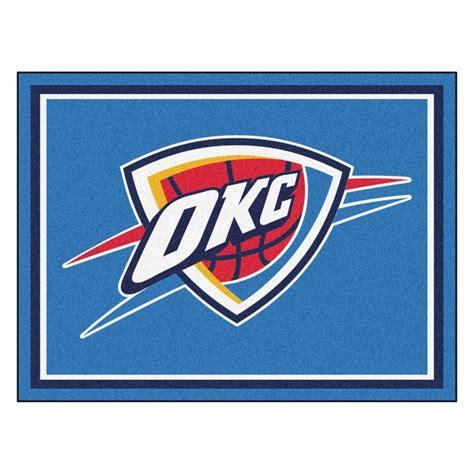 Area Rugs Oklahoma City by Fanmats Nba Oklahoma City Thunder Blue 8 Ft X 10 Ft