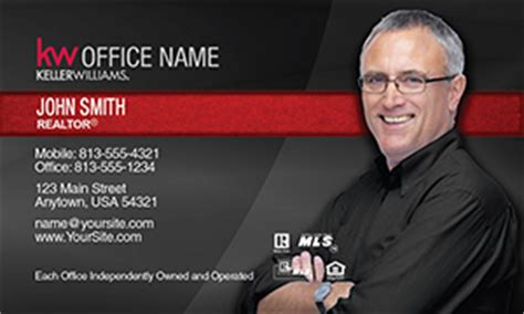 https www realty cards order template klr39a html keller williams real estate business card template 45